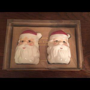 Pottery Barn Santa salt & pepper shakers table